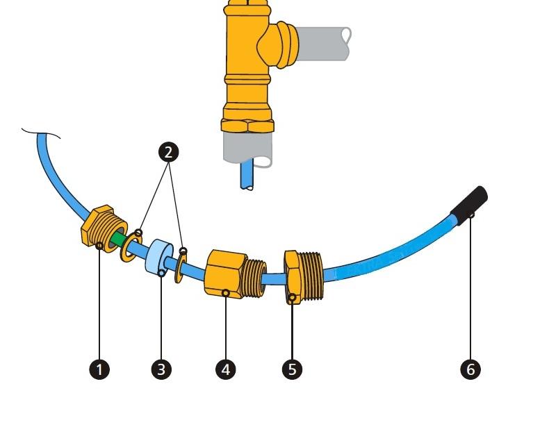 Установка греющего кабеля в трубу. Рис. 1