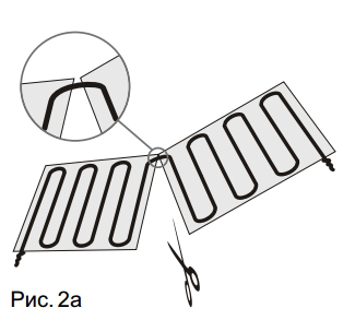 Монтаж греющего кабеля рис.2
